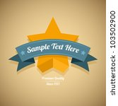 retro label with gold star.... | Shutterstock .eps vector #103502900