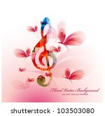 colorful music background with... | Shutterstock .eps vector #103503080