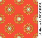 tribal seamless pattern.... | Shutterstock . vector #1035032080