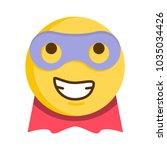 superhero emoticon. vector... | Shutterstock .eps vector #1035034426