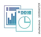 documents with statistics... | Shutterstock .eps vector #1035043729