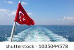 the flag scene from turkey. the ... | Shutterstock . vector #1035044578