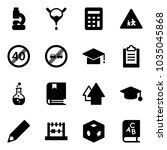 solid vector icon set   lab... | Shutterstock .eps vector #1035045868