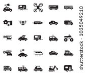 solid black vector icon set  ... | Shutterstock .eps vector #1035049210
