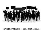 cartoon silhouette black...   Shutterstock .eps vector #1035050368
