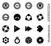 solid vector icon set   no... | Shutterstock .eps vector #1035052324