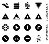 solid vector icon set  ... | Shutterstock .eps vector #1035055276