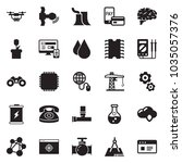 solid black vector icon set  ... | Shutterstock .eps vector #1035057376