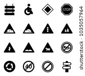 solid vector icon set   sign... | Shutterstock .eps vector #1035057964