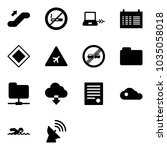 solid vector icon set  ... | Shutterstock .eps vector #1035058018