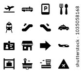 solid vector icon set  ... | Shutterstock .eps vector #1035058168