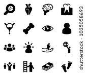 solid vector icon set  ... | Shutterstock .eps vector #1035058693