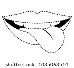 sensuality lips with tongue out | Shutterstock .eps vector #1035063514