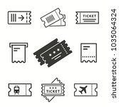 ticket vector icons set. black... | Shutterstock .eps vector #1035064324