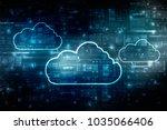 2d rendering cloud computing | Shutterstock . vector #1035066406