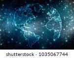 2d illustration technology... | Shutterstock . vector #1035067744