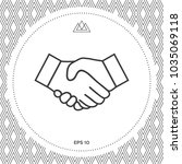 handshake line icon | Shutterstock .eps vector #1035069118