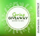 spring giveaway. promotional... | Shutterstock . vector #1035078619