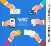 flat design concept payment.... | Shutterstock .eps vector #1035080230