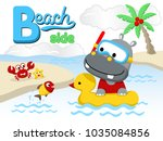 holiday time with funny animals ... | Shutterstock .eps vector #1035084856