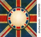 distressed union jack flag with ... | Shutterstock .eps vector #103508900