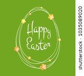 easter greetings card. egg...   Shutterstock .eps vector #1035089020