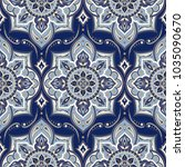 floral indian paisley pattern... | Shutterstock .eps vector #1035090670