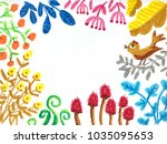 colorful floral and leaf   Shutterstock . vector #1035095653