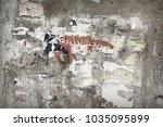 vintage billboard with torn...   Shutterstock . vector #1035095899