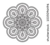 vector indian mandala   Shutterstock .eps vector #1035096496
