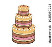 detailed cake icon | Shutterstock .eps vector #1035097228