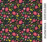 floral seamless pattern with... | Shutterstock .eps vector #1035101260