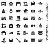 flat vector icon set   house... | Shutterstock .eps vector #1035108820