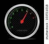 tachometer on black  vector ...   Shutterstock .eps vector #103511018