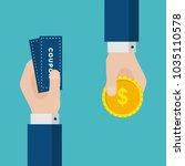 flat design of exchange coupon...   Shutterstock .eps vector #1035110578