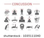 concussion. symptoms  treatment.... | Shutterstock . vector #1035111040