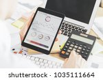 close up of businessman hands... | Shutterstock . vector #1035111664