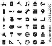 flat vector icon set   scraper...   Shutterstock .eps vector #1035112030