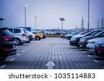colorful new cars stock. cars... | Shutterstock . vector #1035114883