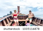 krabi  ao nang   thailand  ... | Shutterstock . vector #1035116878