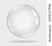 water soap bubble with soft... | Shutterstock .eps vector #1035127996