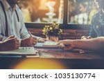 business group meeting for sign ... | Shutterstock . vector #1035130774