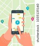 smart city parking mobile app...   Shutterstock .eps vector #1035135160