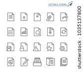 Stock vector document line icons editable stroke pixel perfect 1035137800