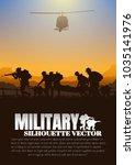 moving injured person  military ... | Shutterstock .eps vector #1035141976