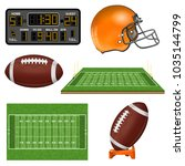 american football realistic... | Shutterstock .eps vector #1035144799