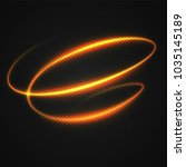 neon blurry circles at motion . ... | Shutterstock .eps vector #1035145189