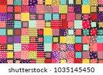 colorful mempis design... | Shutterstock .eps vector #1035145450