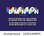 vector of modern bold font and... | Shutterstock .eps vector #1035149893