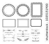 set of frames and text dividers.... | Shutterstock .eps vector #1035151900